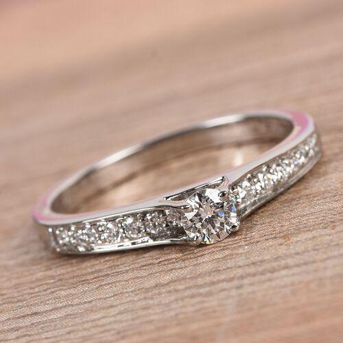RHAPSODY 950 Platinum IGI Certified Diamond (VS/E-F) Ring 0.33 Ct, Platinum wt. 3.78 Gms
