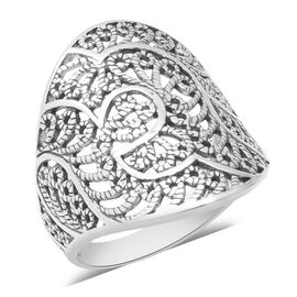 Floral Ring in Sterling Silver 4.40 Grams