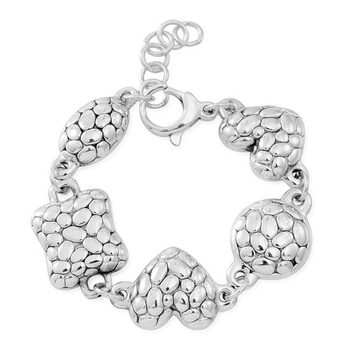 Designer Inspired - Vicenza Collection Sterling SIlver Bracelet (Size 7 with 1 inch Extender), Silver wt. 20.75 Gms.