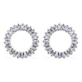 RHAPSODY 950 Platinum IGI Certified Diamond (VS/E-F) Earrings (with Screw Back) 0.50 Ct.