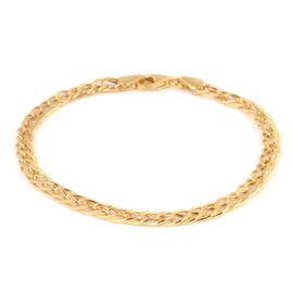 Italian Made- 9K Yellow Gold Fancy Curb Bracelet (Size 7.5),