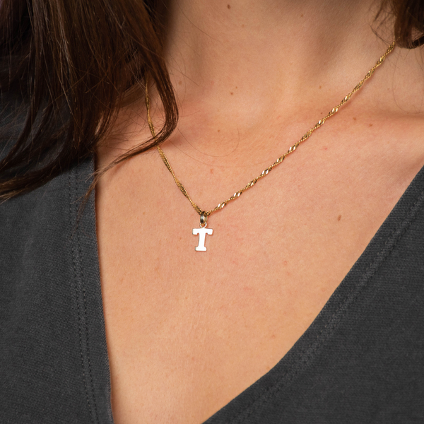 MP 9K Yellow Gold Initial T Pendant