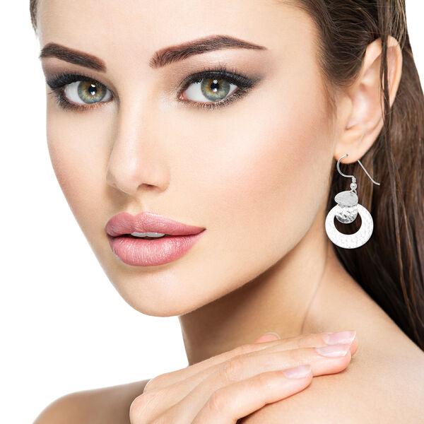 Sterling Silver Dangle Hook Earrings, Silver wt 9.87 Gms