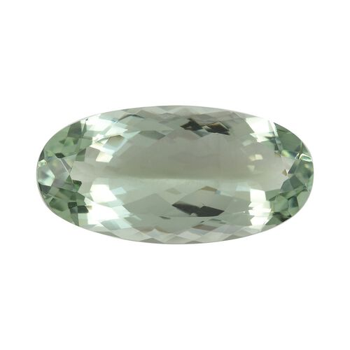AAA Prasiolite Oval 32x16 Faceted 3A 29.60 Cts
