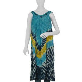 Blue and Multi Colour Dress (Size 116x132 Cm)
