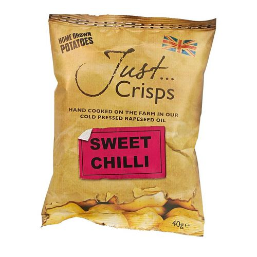 Just Crisps 24 x 40g Spicy Pack - 8xBlack Pepper, 8xSweet Chilli, 8xJalapeno