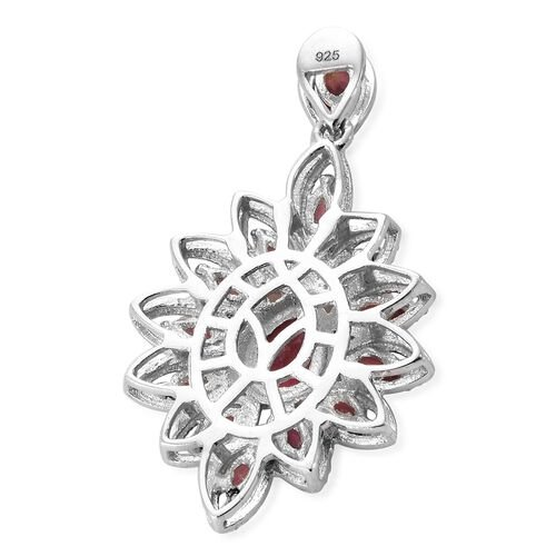 African Ruby (Pear) Pendant in Platinum Overlay Sterling Silver 2.500 Ct.
