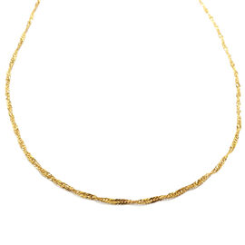 Close Out Deal 9K Yellow Gold Singapore Necklace (Size 18)