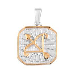 Tanzanite. Zodiac Pendant  Sterling Silver 0.00 ct  0.020  Ct.