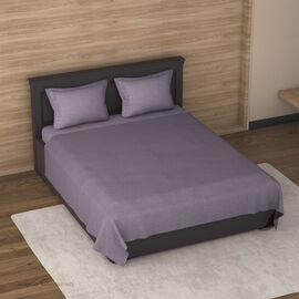 4 Piece Set : Solid Microfibre Sheet Set including Flat Sheet (275x265cm), Fitted Sheet (150x200+30c