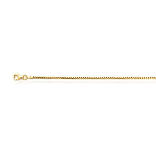 JCK Vegas Collection 14K Gold Overlay Sterling Silver Cuban Bracelet (Size 7.5)