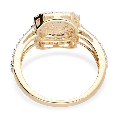 9K Yellow Gold SGL Certified Diamond (I3/G-H) Ring 1.00 Ct.