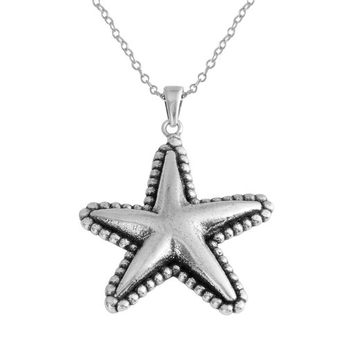 Sterling Silver Star Fish Pendant with Chain, Silver wt 4.00 Gms.