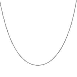 Sterling Silver Adjustable Spiga Slider Chain (Size 20)