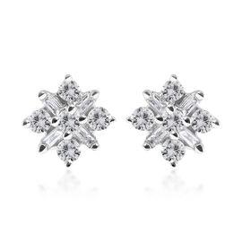 9K White Gold SGL Certified Diamond(I3/G-H) Stud Earrings 0.25 Ct.