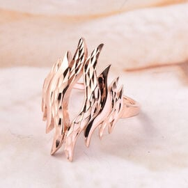 LucyQ Flame Collection Winning Ring in Rose Gold Plated Sterling Silver
