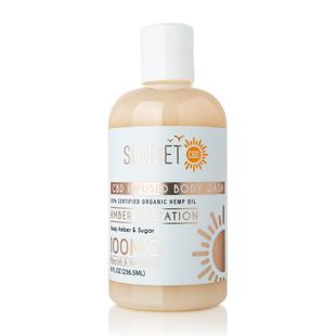 Sunset CBD: Organic Body Wash Amber Flirtation (Deep Amber & Sugar)  - 236.50 ml (100MG)