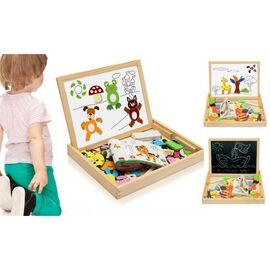 Magnetic Activities Board- Wooden Multifunctional Puzzle (Size 30.4x23.2x3.8cm)