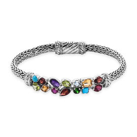 Bali Legacy Collection - Sleeping Beauty Turquoise, Mozambique Garnet, Amethyst, Hebei Peridot and M