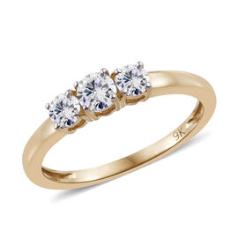 9K Yellow Gold SGL Certified Diamond (Rnd) (G-H/I3) Ring 0.500 Ct.