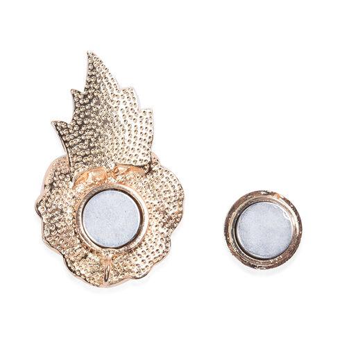 TJC Poppy Design - Black Austrian Crystal Enamelled Poppy 2-in-1 Magnetic Brooch and Pendant