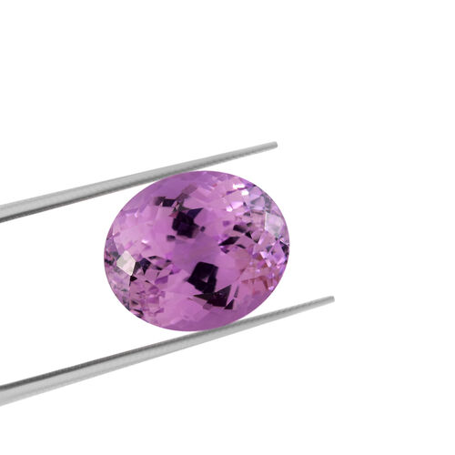 AAA Kunzite Oval 14x12 Faceted 9.55 Cts