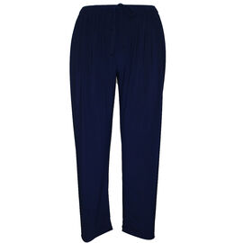 Supersoft Emma Tapered Trousers with Elasticated Waist in Navy - 27 inches (Size S/M)