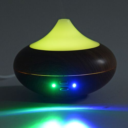 Aroma Diffuser with Deep Grain Pattern, USB Charge and LED light (Size 16x6 Cm) (Wire: 100 Cm)