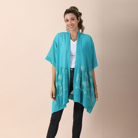 JOVIE Chiffon Embroidery Kimono - Dark Green