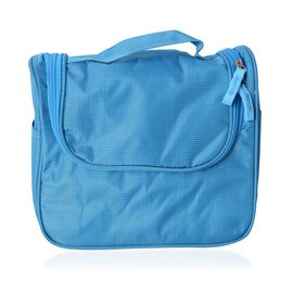 Blue Colour Water Resistant Cosmetic Bag (Size 35.5x23.5x11 Cm)