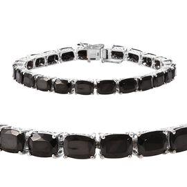 Elite Shungite (Cush) Bracelet (Size 8) in Platinum Overlay Sterling Silver 17.00 Ct, Silver wt 12.2