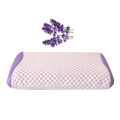 Premium Collection-Aroma Therapy Lavender Infused Memory Foam Air Flow Pillow (Size 65x45 Cm)