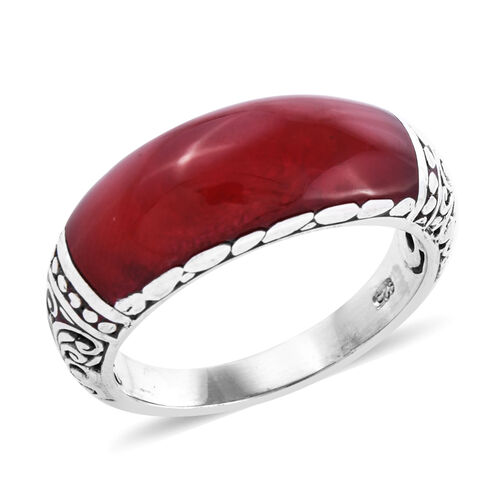 Royal Bali Collection Sponge Coral Ring in Sterling Silver