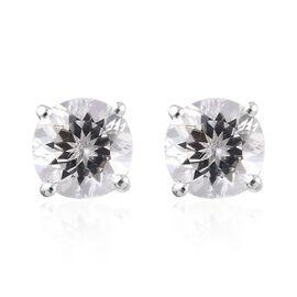 2 Carat Petalite Stud Solitaire Earrings in Sterling Silver