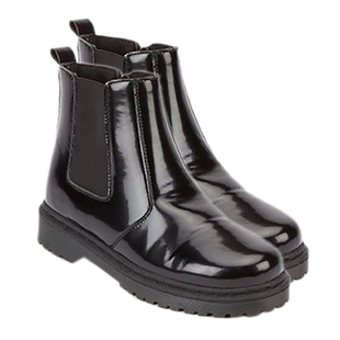 Manchester Closeout Black High Shine Chelsea boot