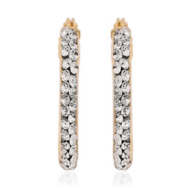 Italian Made- Tuscany Collection - 9K Yellow Gold Cubic Zirconia Earrings