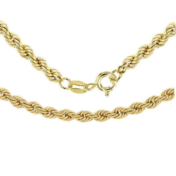 Designer Inspired 22 Inch Long Rope Chain in 9K Gold 3.10 grams