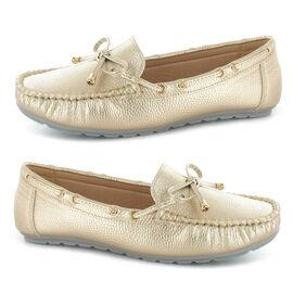 Ella Sadie Knot Detailing Loafers - Gold
