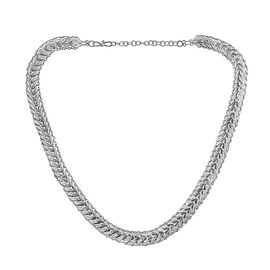 Royal Bali Heart Link Necklace in Sterling Silver 27.90 Grams 18 With 2 Inch Extender
