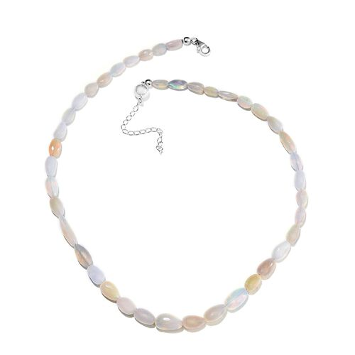 Limited Available - Rare Size Ethiopian Welo Opal Necklace  in Sterling Silver Magnetic Clasp (Size