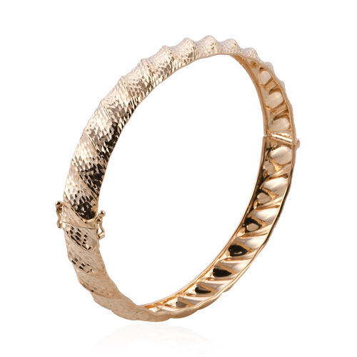 Royal Bali Collection 9K Yellow Gold Diamond Cut Bangle (Size 7), Gold wt 5.20 Gms.