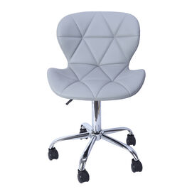 Office Desk Chair with 360 Degree Swivel & Adjustable Height - (Size W50xH50xL77cm)- Light Grey