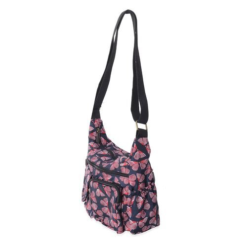 Annabelle Water Resistant Butterfly Navy Cross Body Bag with Adjustable Shoulder Strap (Size 27x25x10 Cm)