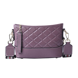 lifestyle-Color:Light Purple; size/Profile:Crossbody bag;wall(exterior);Genuine Leather. Lining(inte