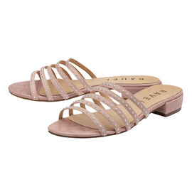 Ravel Alena Women's Slip On Sandals with Studded Straps in Beige