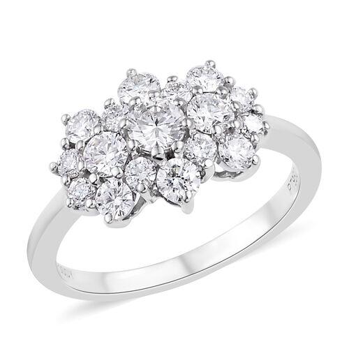 RHAPSODY 950 Platinum IGI Certified Diamond (Rnd) (VS/E-F) Cluster Ring 1.000 Ct.