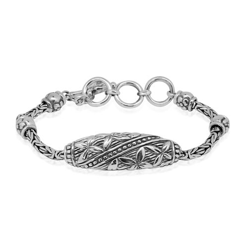 Royal Bali Collection Sterling Silver Borobudur Bracelet (Size 7.75 with Extender), Silver wt 24.00 Gms.