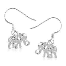Sterling Silver Elephant Hook Earrings, Silver wt 3.00 Gms