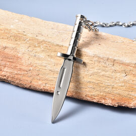 Sword Pendant with Chain (Size 23.5) in Stainless Steel