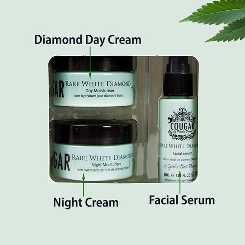 CB&CO: Rare White Diamond Set (Incl. Rare White Diamond Day Cream - 50ml, Night Cream - 50ml & Facial Serum - 30ml)